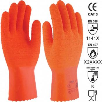 Guantes de látex con soporte de algodón mod. coral 30 (sl-430)