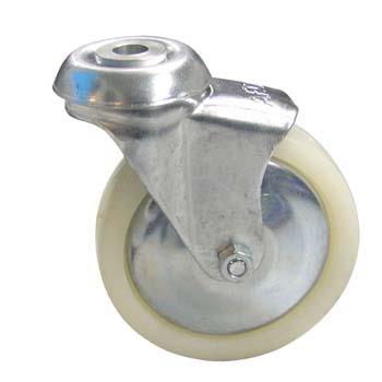 Rueda de polipropileno con soporte giratorio (buje)