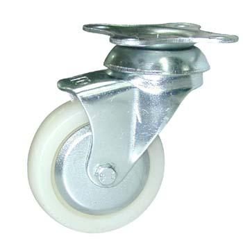 Rueda de nylon con soporte giratorio (pletina)