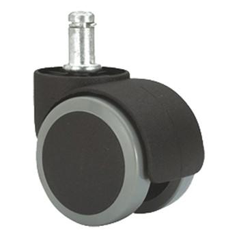 Rueda doble de poliuretano con espiga giratoria mod. dk-dk