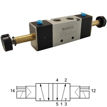 Electroválvula 5/2 biestable mod. ef52e