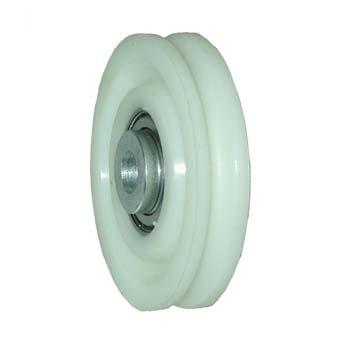 Polea nylon puerta basculante 1 canal de 6,5 mm