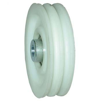Polea nylon puerta basculante 2 canales de 6,5 mm