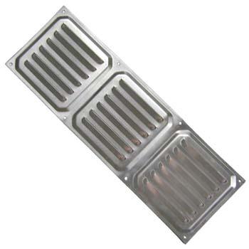 Rejilla de ventilación rectangular para atornillar (10x30 cm)