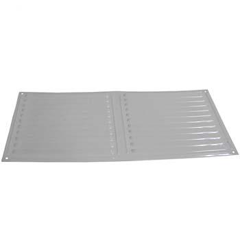 Rejilla de ventilación rectangular para atornillar (17x34 cm)