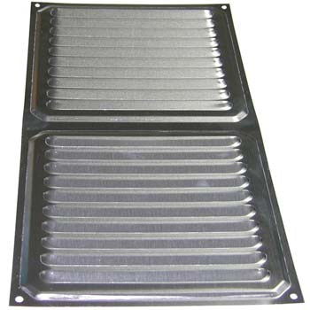 Rejilla de ventilación rectangular para atornillar