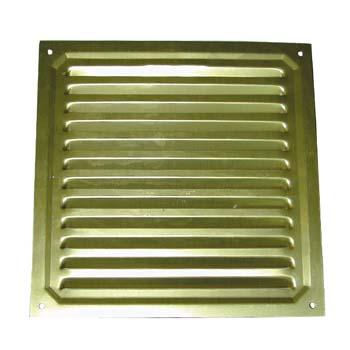 Rejilla de ventilación cuadrada para atornillar (20x20 cm)