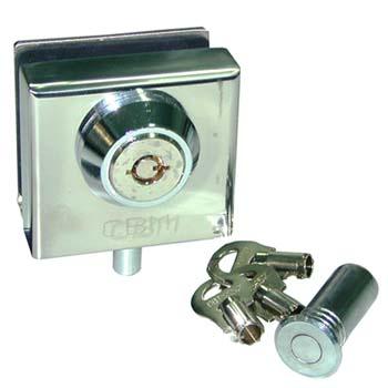 Cerradura de suelo con bulo para puertas de cristal