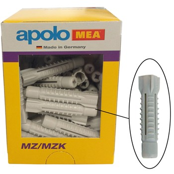 Tacos de nylon multimaterial sin valona mod. mz en caja