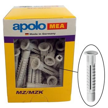 Tacos de nylon multimaterial con valona mod. mzk en caja