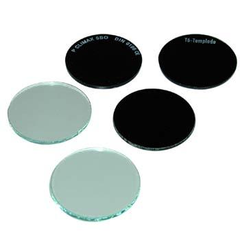 Cristal redondo de diámetro 50 mm.