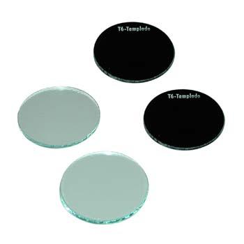 Cristal redondo templado de diámetro 50 mm.