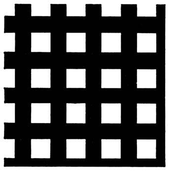 Chapa perforada con agujeros cuadrados.