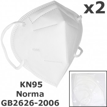 Mascarillas protectoras kn95 de tres capas (pack de 2) ref. ar-124sv
