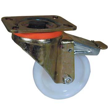 Rueda de poliamida con soporte giratorio pesado y freno