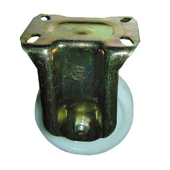 Rueda de poliamida con soporte pesado fijo