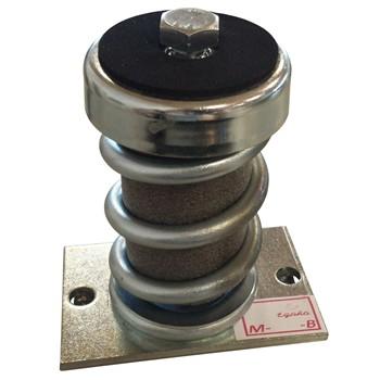 Amortiguador antivibración metálico con base