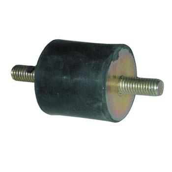 Soporte amortiguador antivibratorio cilíndrico con rosca macho por los dos lados