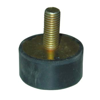 Soporte amortiguador antivibratorio cilíndrico con rosca macho por un lado
