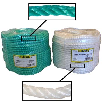 Cuerda de polietileno de 4 cabos