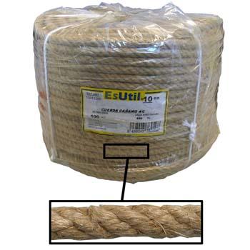 Cuerda de cáñamo de 4 cabos