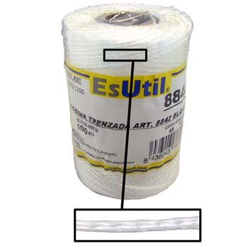Cuerda trenzada de polipropileno blanco