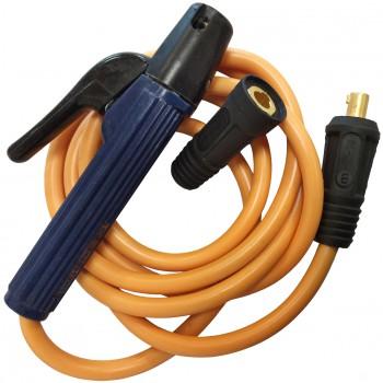 Conjunto de pinza portaelectrodos con cable extraflexible de silicona