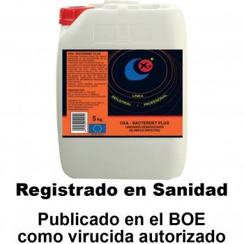 Limpiador desinfectante ref. oxa bacterdet plus (5 litros)