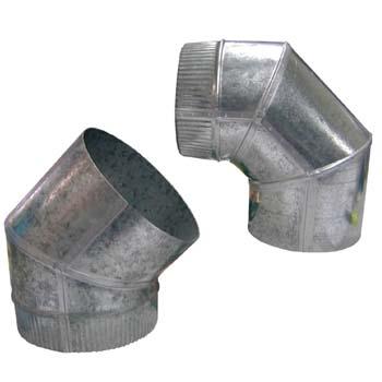 Codo galvanizado tipo caldereria