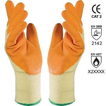 Guantes de látex natural mod. enduro 328.