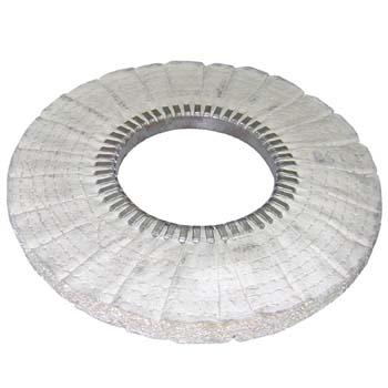 Disco de sisal y algodón plisado al bies