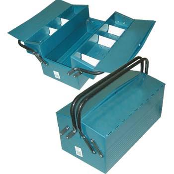 Caja metálica para herramientas con 3 departamentos