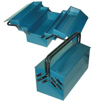 Caja metálica para herramientas con 5 departamentos