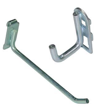 Ganchos para fijar en paneles perforados