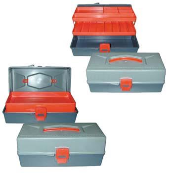Caja de plástico para herramientas (340x158x132 mm)
