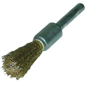 Cepillo brocha de alambres ondulados