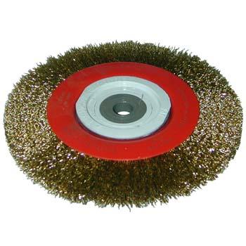Cepillo circular de alambre ondulado con adaptador multi-eje