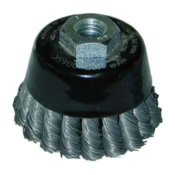 Cepillo de alambres trenzados para altas revoluciones (65 mm)