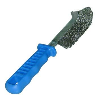 Cepillo manual con mango de plástico