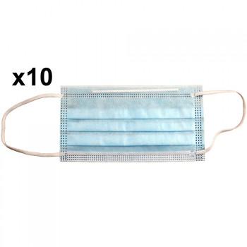 Mascarilla de protección individual higiénica (pack 10 unidades)