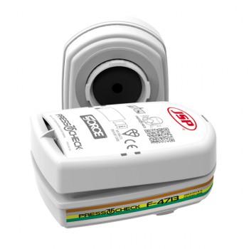 Filtros de recambio para múltiples tipos de gas y vapor + polvo (abek1p3) (pack 2 unidades) mod. presstocheck™ para mascaras mod. force™8
