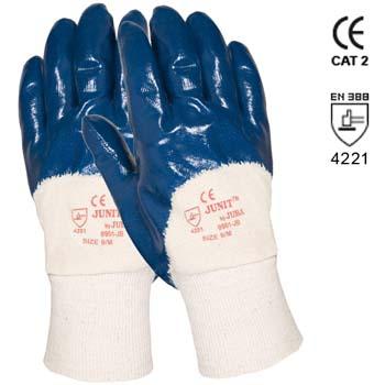 Guantes de nitrilo pesado con dorso fresco y puño elástico ref. 9901