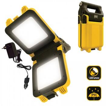 Foco de trabajo led recargable-plegable de 1600 lumens ref. kl1600-lp20w