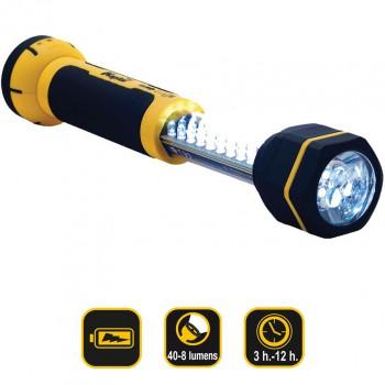 Linterna de trabajo telescópica 30+6 led recargable de 40 lumens ref. kl30lwl