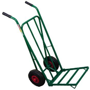 Carretilla con ruedas neumáticas y pala plegable