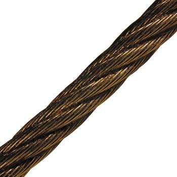Cable de acero negro embreado