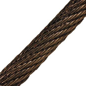 Cable de acero antigiro negro