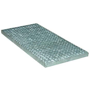 Entramado metálico galvanizado con agujero de 20 x 20 y pletina de 25 x 2.