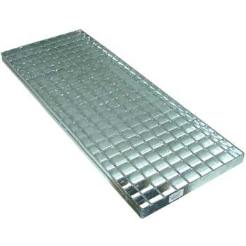 Entramado mixto galvanizado con agujero de 30 x 30 y pletina de 30 x 2.