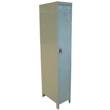 Armario gris de una puerta